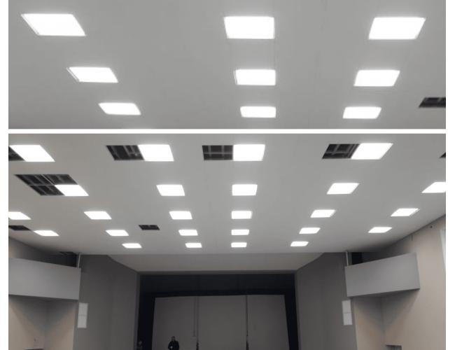 Освещение актового зала ЦНИИ конструкционных материалов