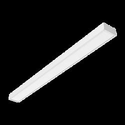 Светильник Вартон A220 2.0 офисный встр./накл. 1195*100*50мм 30 ВТ 4000К IP40 с призматическим рассеивателем светодиодный Арт. V1-A0-00220-01PR0-4003040