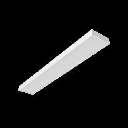 Светильник Вартон A270 2.0 офисный встр./накл. 30 Вт 6500К 1195*180*50 мм IP40 с призматическим рассеивателем DALI бел. светодиодный Арт. V1-A0-00270-01PRD-4003065